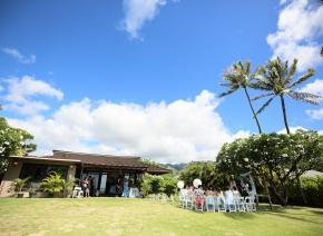 ハワイの一軒家を使ってのウエディング